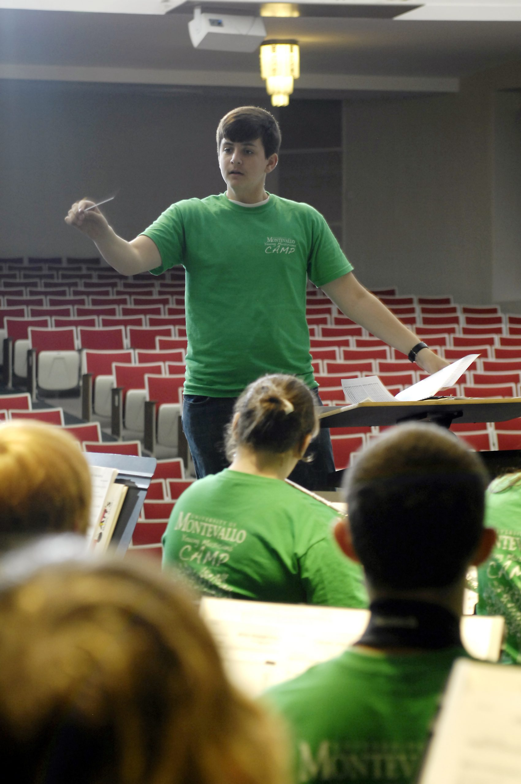 Grant, age 16, rehearsing the 2011 University of Montevallo Young Musicians' Camp Wind Ensemble
