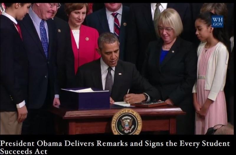President Obama signing ESSA