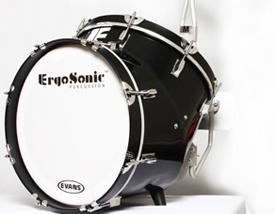 ErgoSonic Marching Bass Drum, from ErgoSonic Percussion, LLC