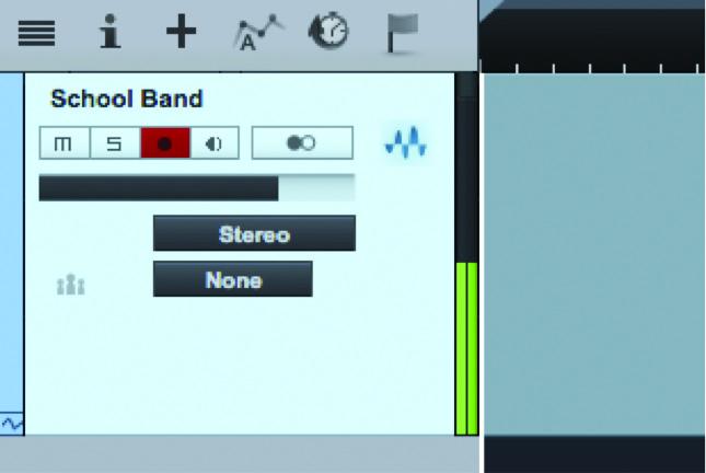 Figure 3: Studio One Recording Input Meters
