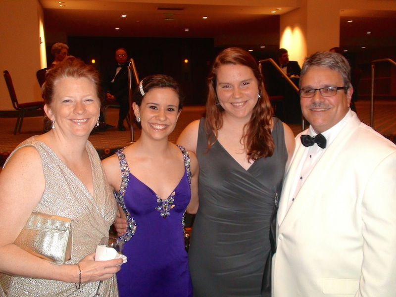 Robert W. Smith with family at the American Bandmasters Association Banquet.