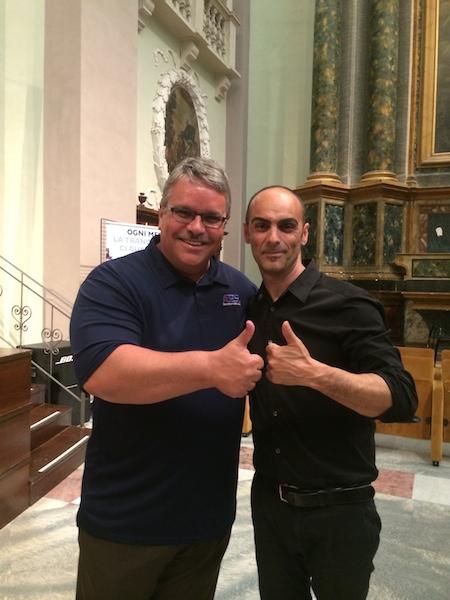 Post-rehearsal with Italian conductor Gianluca Sartori - Fermo.