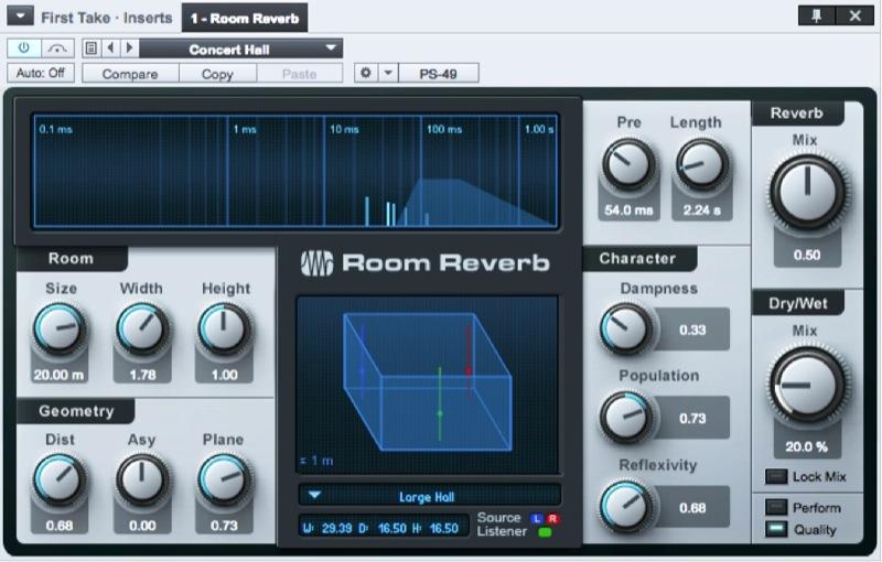 Figure 6: Room Reverb