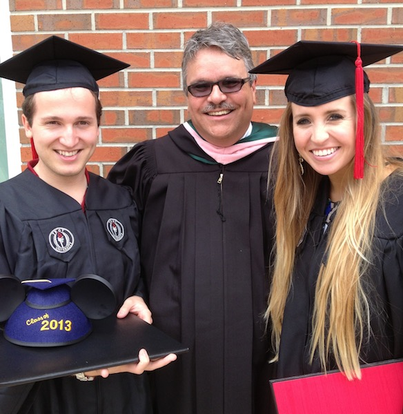 Smith poses with cherished music industry students at Troy University Graduation.