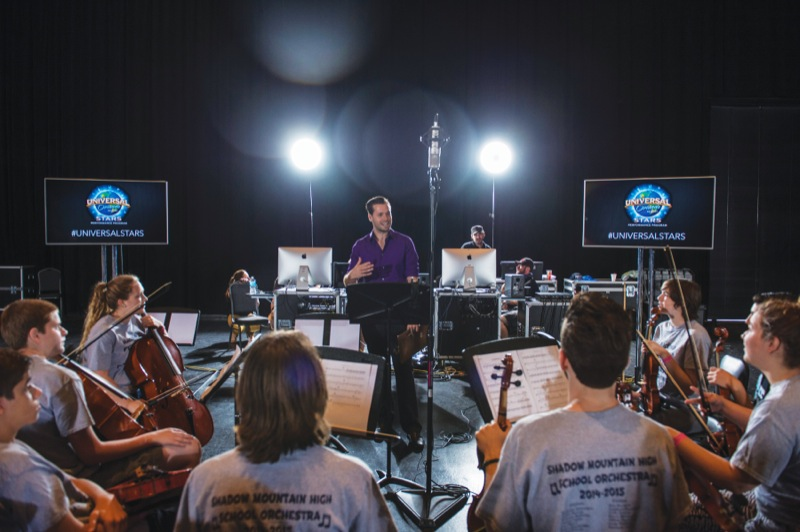The Shadow Mountain and Paradise Valley High School Orchestra learned how to score an actual movie scene during the Sound Design: Music and the Art of Foley workshop.