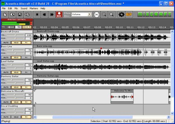 Mixcraft from Acoustica, Inc.
