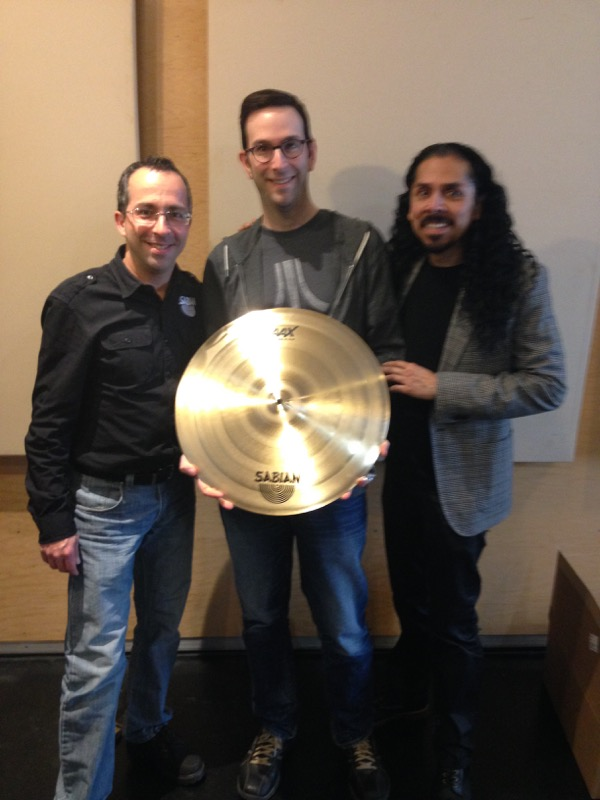 Joe Bergamini with Giveaway winner Scott Paeth and Victor Salazar