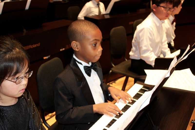 """Students Perform on Stage for """"101 Pianists"""" concert"""