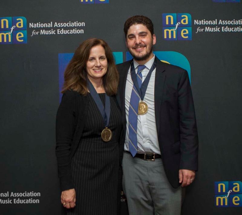 NAfME Deputy Executive Directors Jane Mell Balek and Christopher Woodside (Photo: Mark Finkenstaedt)