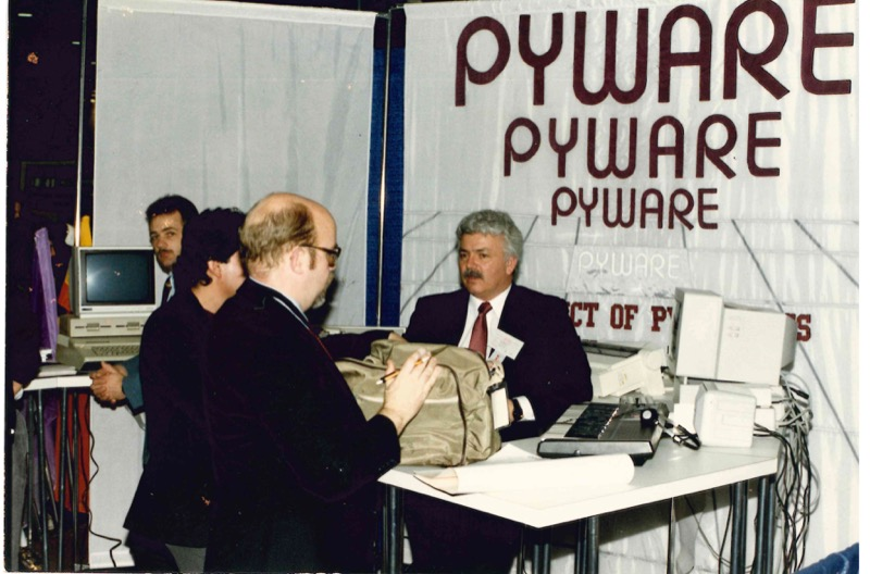 Pyware's earliest days showing band directors the wonders of modern computing for their band programs.