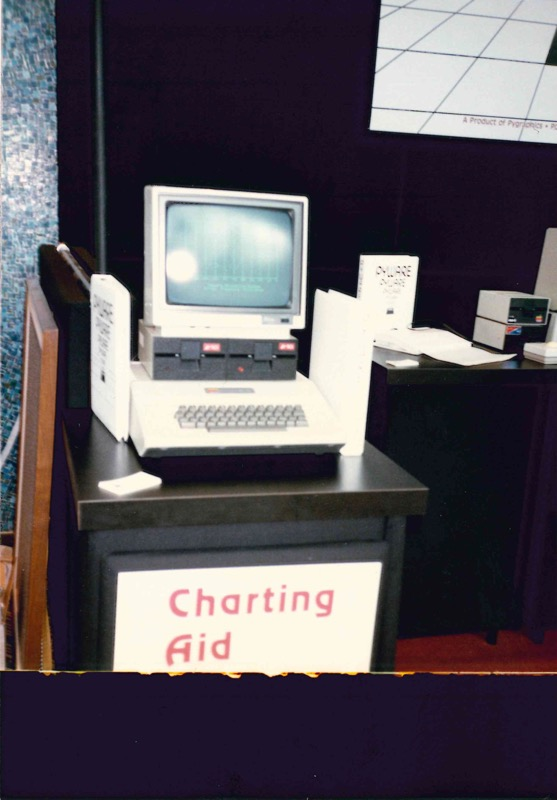Pyware's Apple II demo station at an early conference/tradeshow