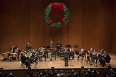 :Philip Smith leading the NY Philharmonic  Brass and Percussion at the 2014  Holiday Brass concert   Photo: Jennifer Taylor