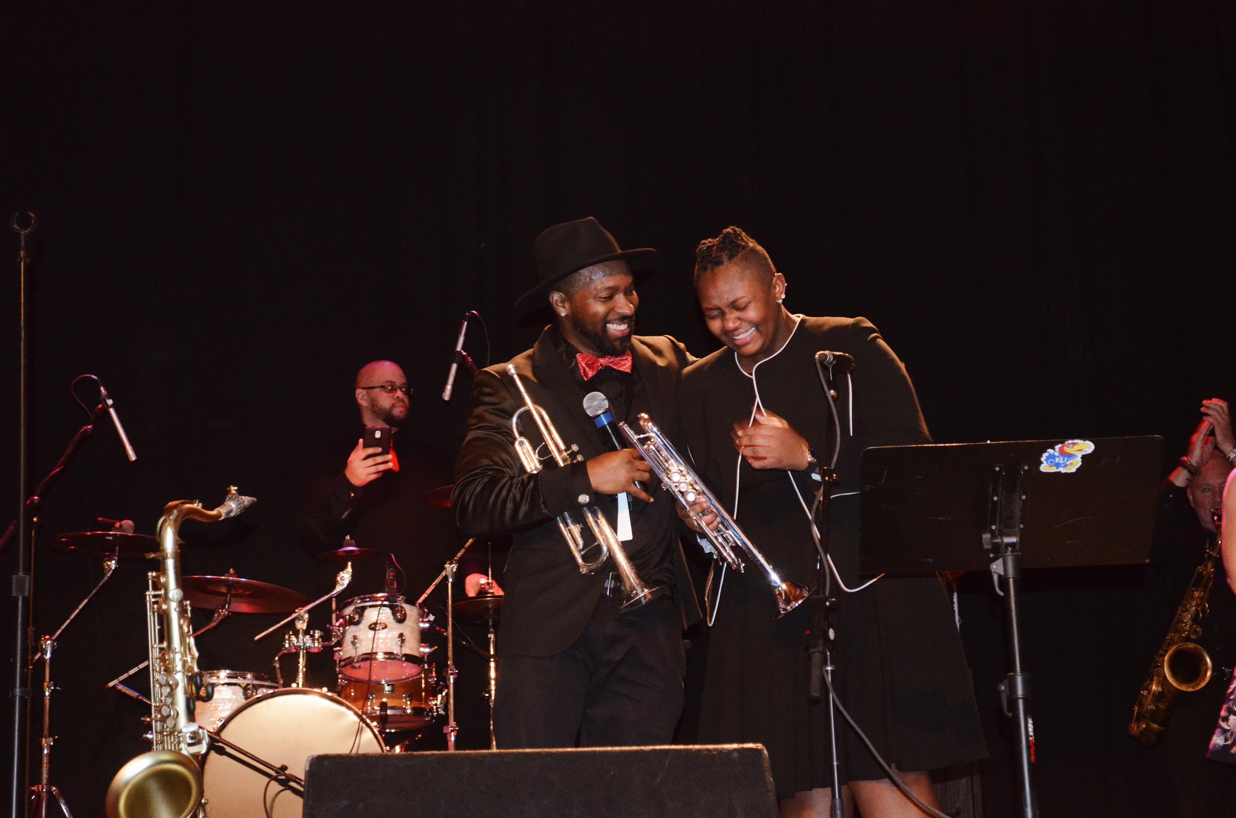 Stevie Wonder saxophonist Ryan Kilgore, Destiny White-Dixon