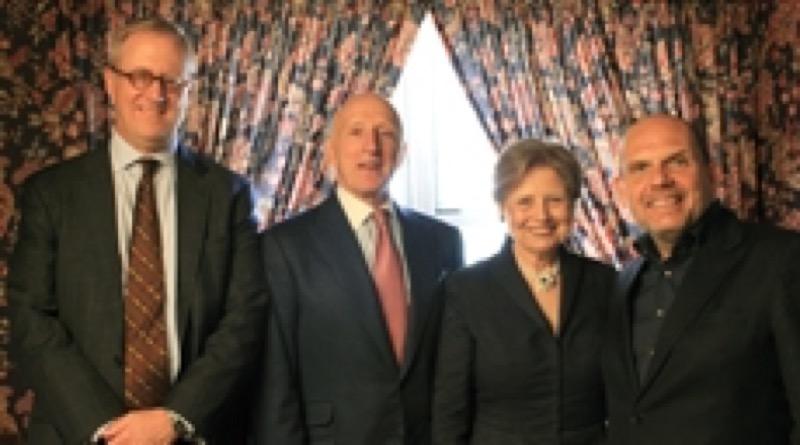 L–R: Bill Thomas, Oscar S. Schafer, Deborah Borda, and Jaap van Zweden at new NY Philharmonic Position