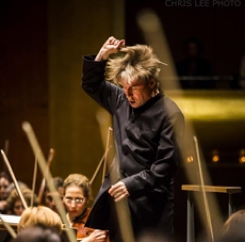 Esa-Pekka Salonen conducting the New York Philharmonic Photo: Chris Lee
