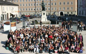The Buffalo Grove High School Band in Salzburg, Austria in 2010.